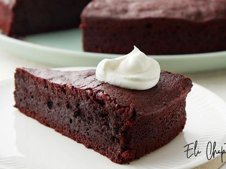 Torta de chocolate húmeda sin harina