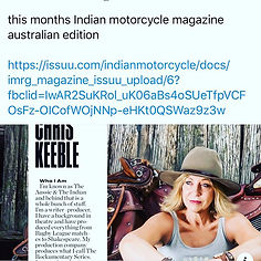 Australian indian motorcycle magazine. f