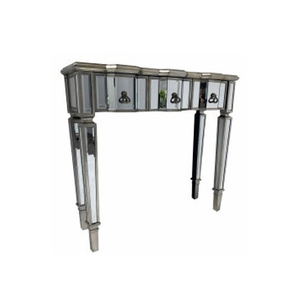 Slim 3 Drawer Mirrored Console Table