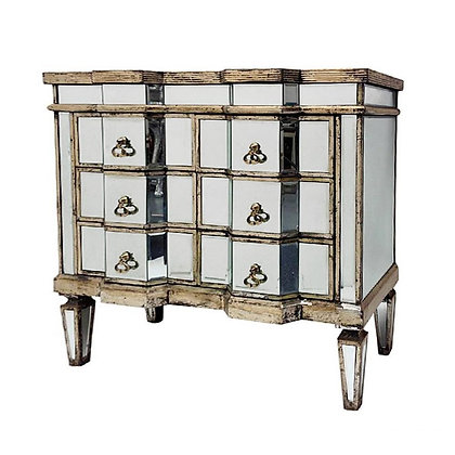 Vintage Mirrored 6-draw Chest
