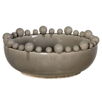 Grey Bowl with ball on the rim