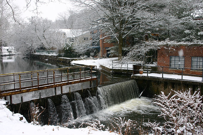 Waterfall in Piermont Historic District
