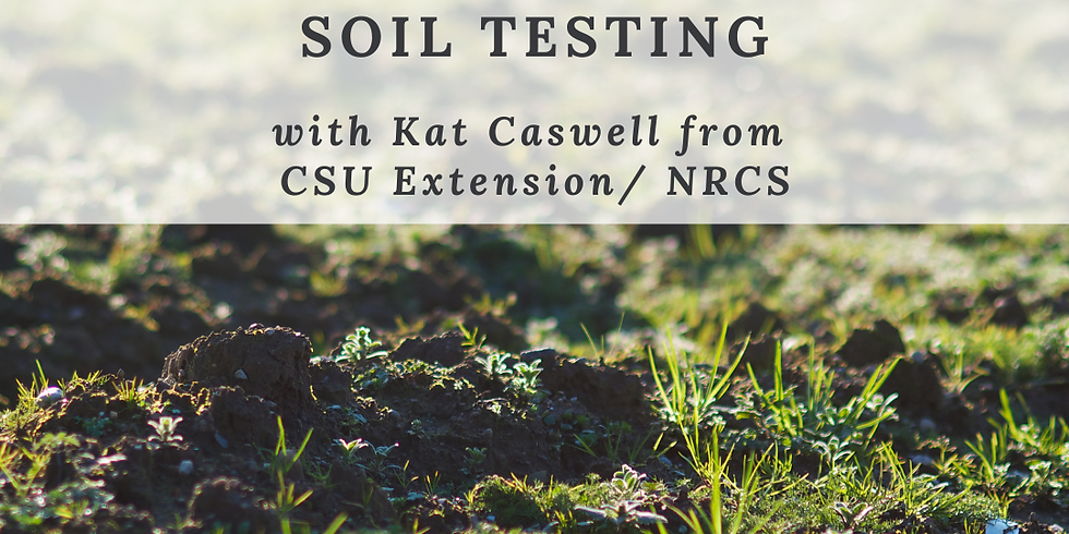 Education Workshop: Getting the Dirt on Soil Testing