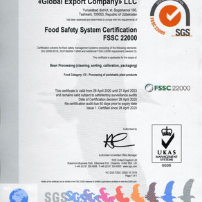 The FSSC 22000 certificate issued by SGS
