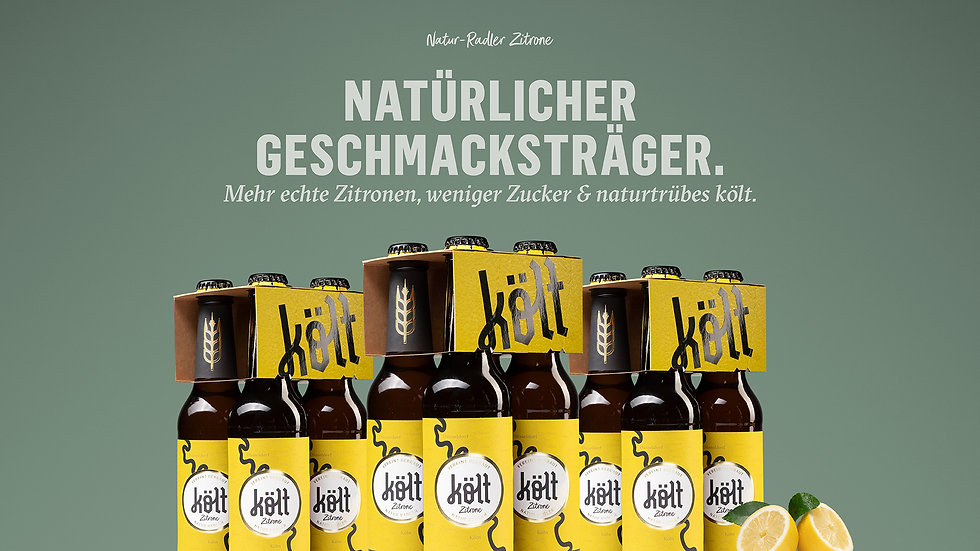 költ Natur-Radler Zitrone 3x 4er Träger 0,33l