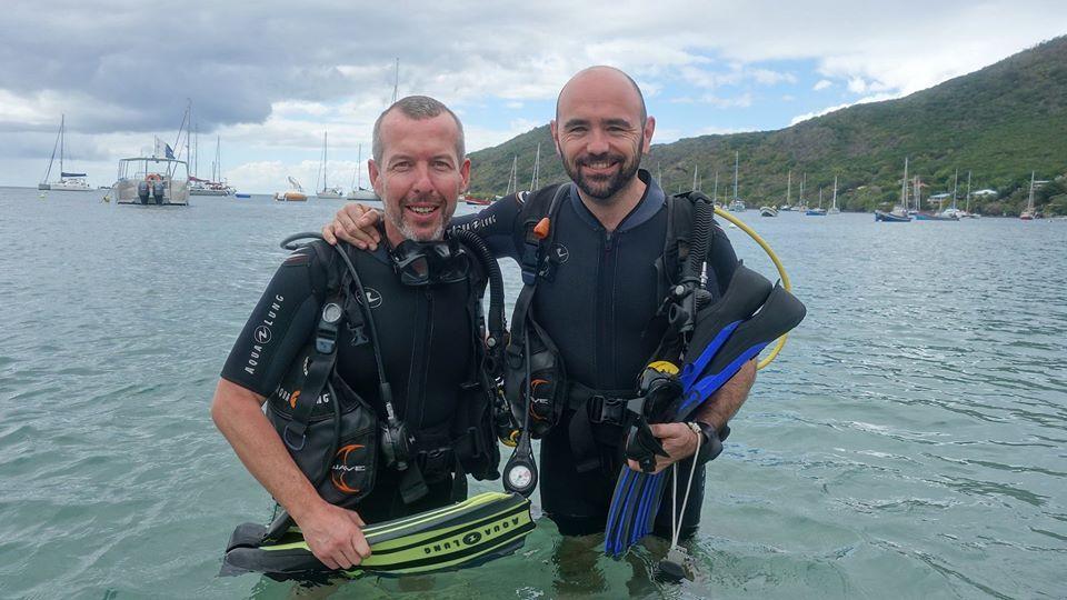 Scuba divers Martinique