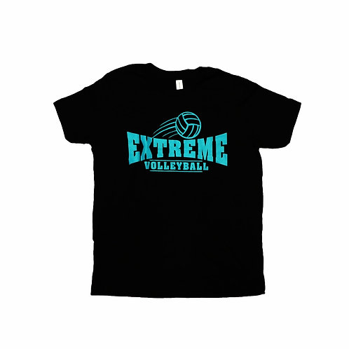 Short-Sleeve, Black T-shirt, Teal Logo