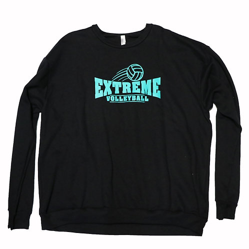 Black, Drop-Sleeve, Pullover, Teal Logo