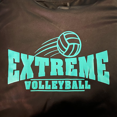 CLEARANCE - Long-Sleeve Black Sweatshirt, Teal Logo