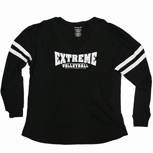 "Long-Sleeved, V-Neck, ""Jersey"" Style Shirt"