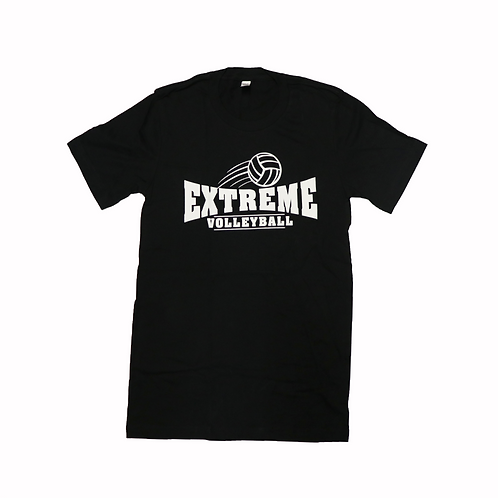 Short-Sleeve, Black T-Shirt, White Logo