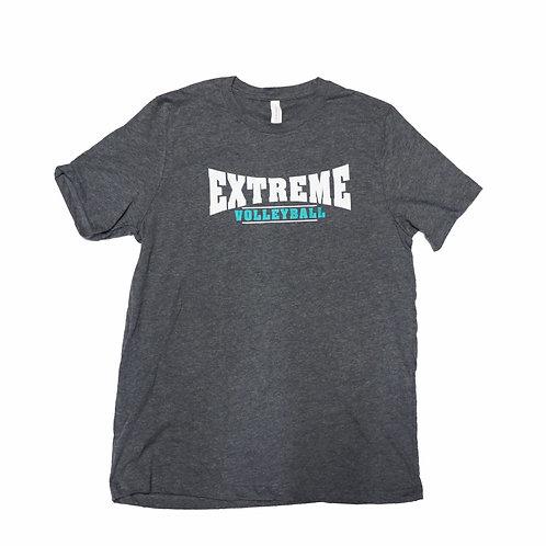 Short-Sleeve, Grey T-Shirt, Multi-Color Logo