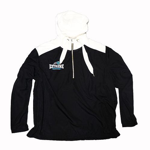 White and Black Lined Rain Jacket