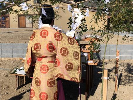 建築吉日で大安の日に、地鎮祭を執り行いました/島田市内にて