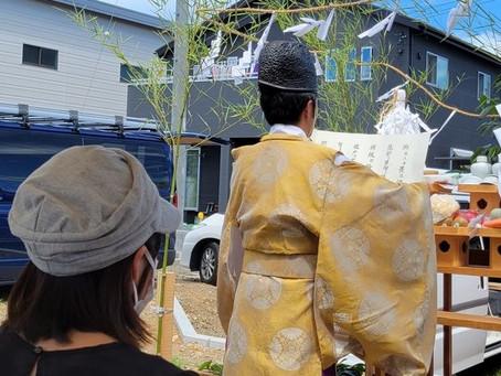 島田市内にて、地鎮祭を執り行いました。