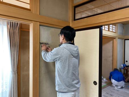 和室の壁を塗り替えるリフォーム 施工前