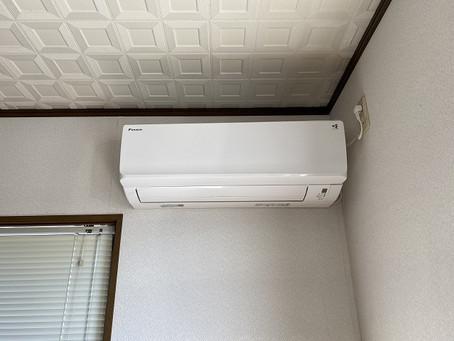 冬季のエアコン取付工事