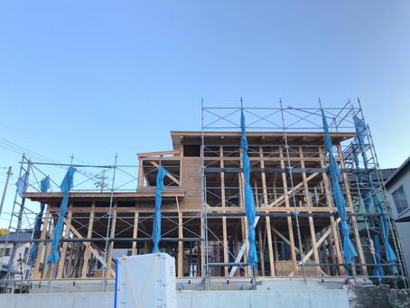 アクトスタイル⑤/島田市金谷地区にて「しずおか優良木材の家」施工中です!
