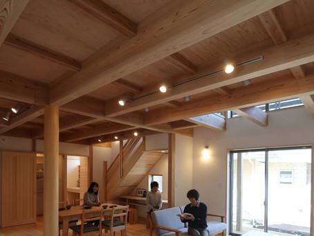 2月に開催した「木の家」完成見学会の様子です