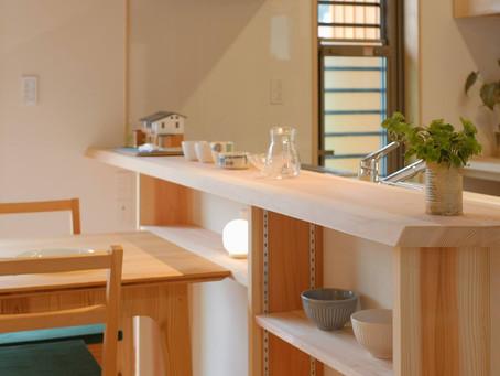 大井川杉でつくるキッチンカウンター
