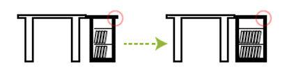 デスクサイド収納箱のスペース効率