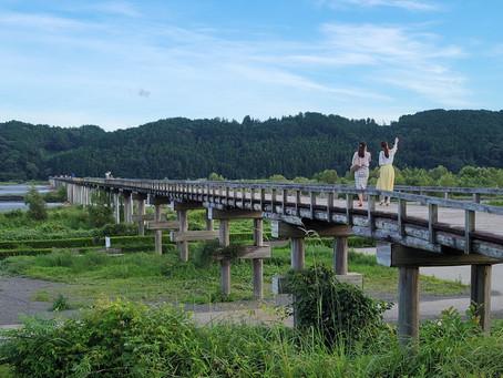 夏の蓬莱橋・ギネスブック認定!世界最長の木造歩道橋/静岡県島田市