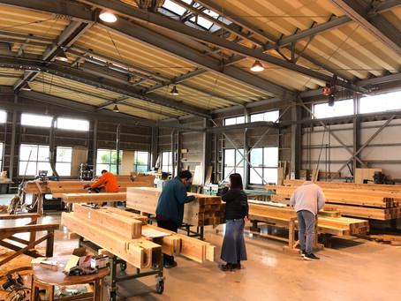 3月に上棟予定です! お客様による木材加工場の見学 / しずおか優良木材の家