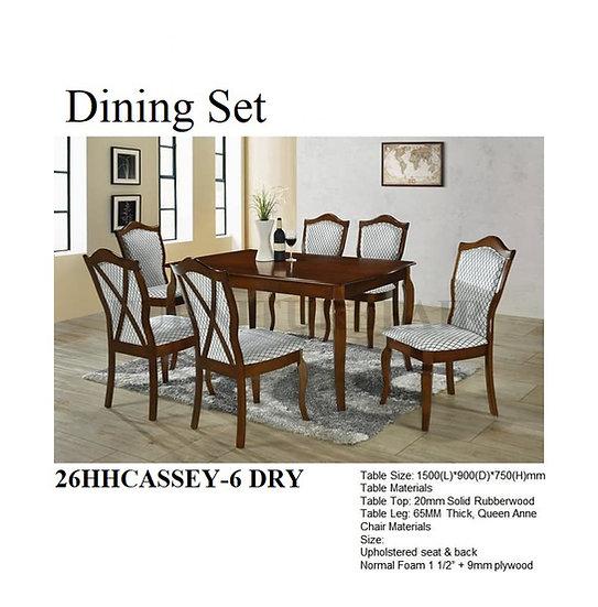 Dining Set 26HHCASSEY-6 DRY