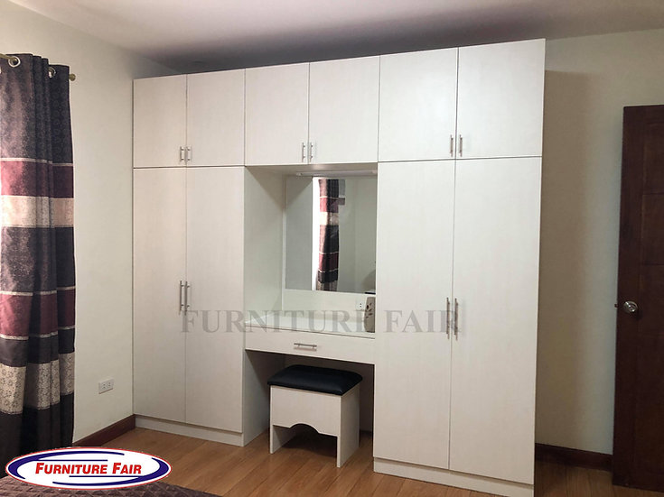 Wardrobe with Dresser & Stool(Made to Order)