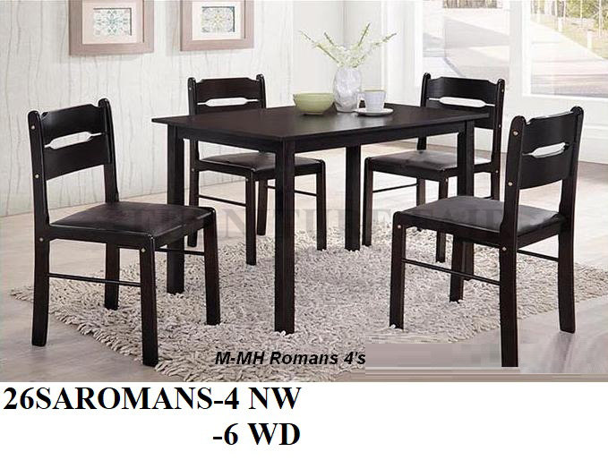 Dining Set 26SAROMANS 4NW 6WD