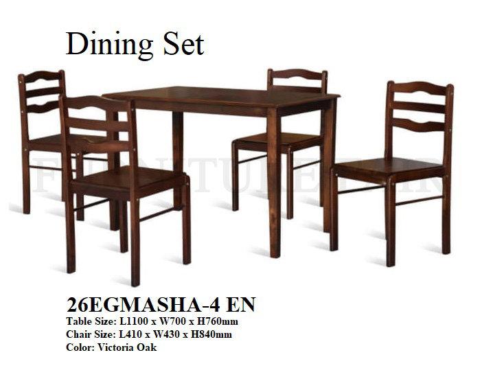 Dining Set 26EGMASHA-4EN 6OK