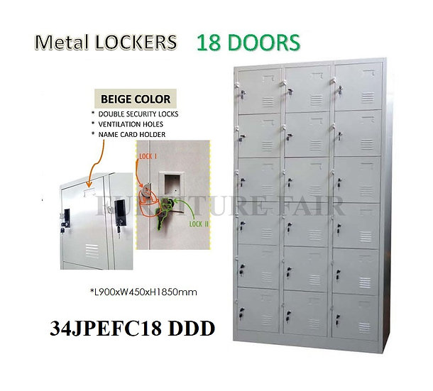 Steel Lockers 34JPEFC18 DDD