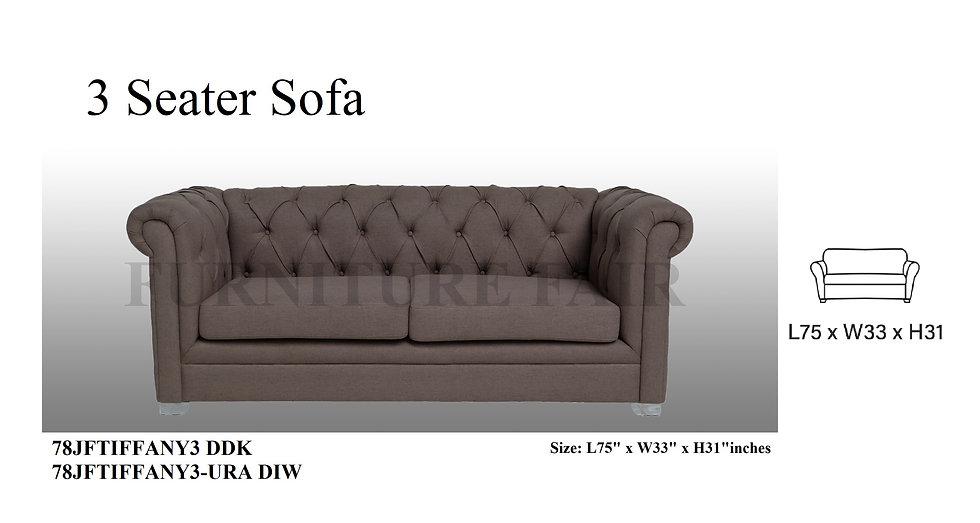 3 Seater Sofa 78JFTIFFANY3 DDK URA-DIW