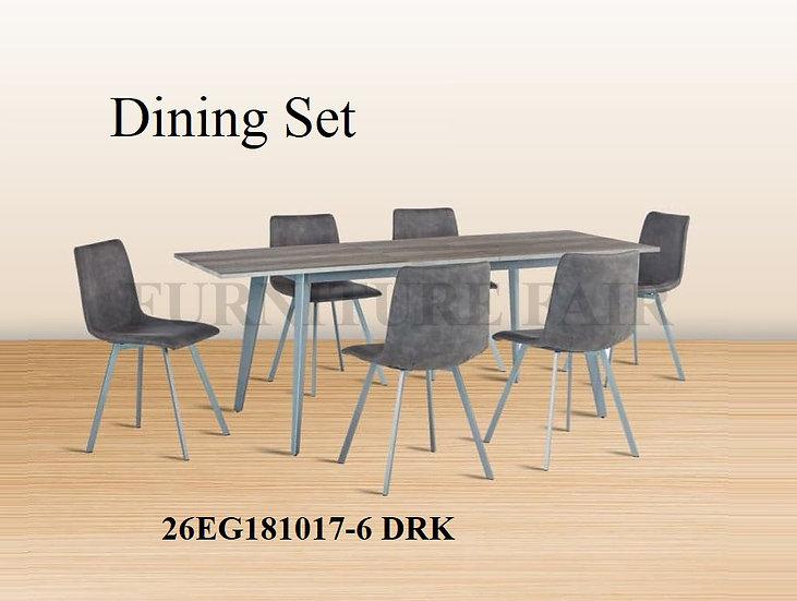 Dining Set 26EG181017-6 DRK