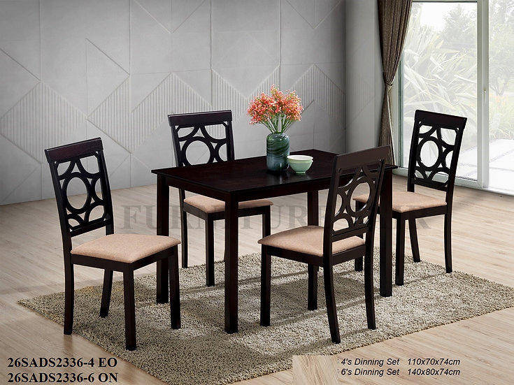 Dining Set 26SA2336-4EO 6ON