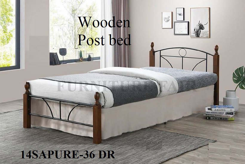 Wooden Post Bed 14SAPURE-36 DR