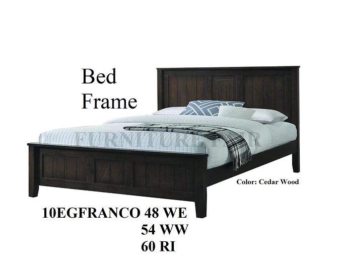 Wooden Bedframe 10EGFRANCO 48WE 54WW 60RI
