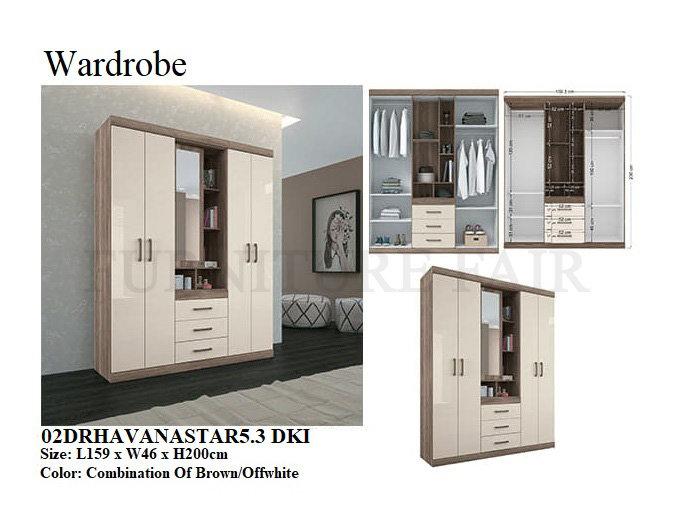 Wardrobe 02DRHAVANASTAR5.3 DKI
