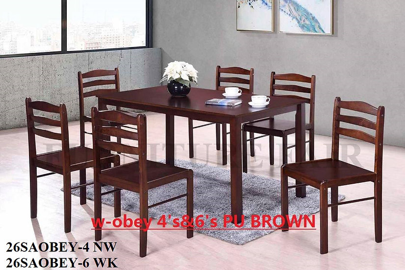 Dining Set 26SAOBEY-4NW 6WK