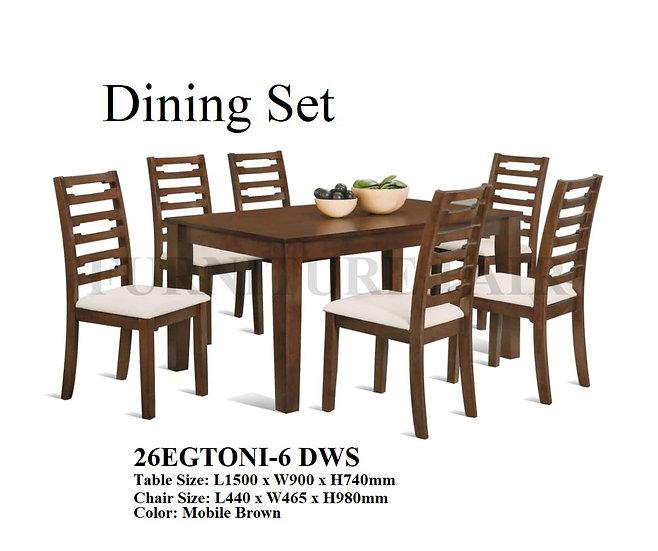 Dining Set 26EGTONI-6 DWS
