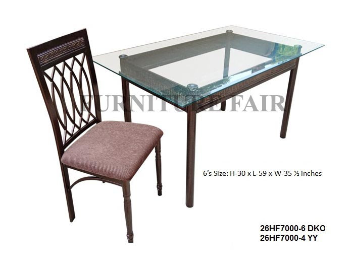 6 seater Dining Set 26HF7000-6