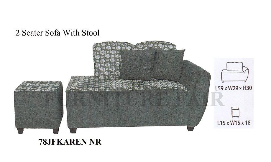 2 Seater Sofa 78JFKAREN NR