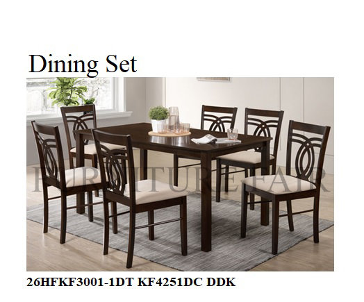 Dining Set 26HFKF3001-1DT+KF4251DC DDK