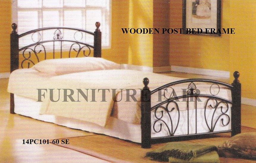 Wooden Post Bed Frame 14PC101-60 SE