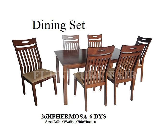 Dining Set 26HFHERMOSA-6 DYS