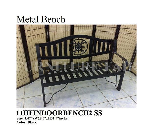 Metal Bench 11HFINDOORBENCH2 SS