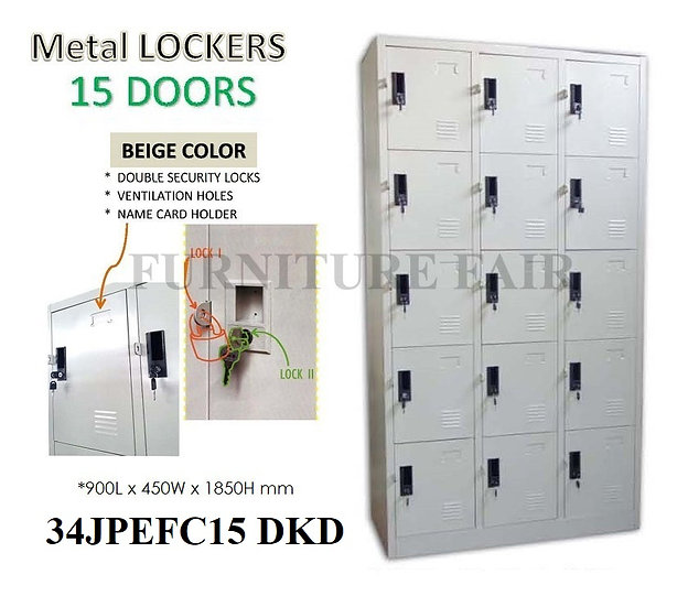 Steel Lockers 34JPEFC15 DKD