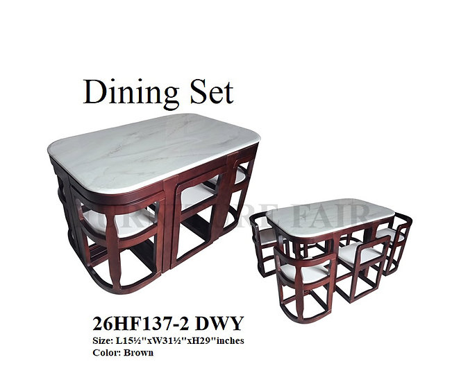 Dining Set 26HF137-6 DWY
