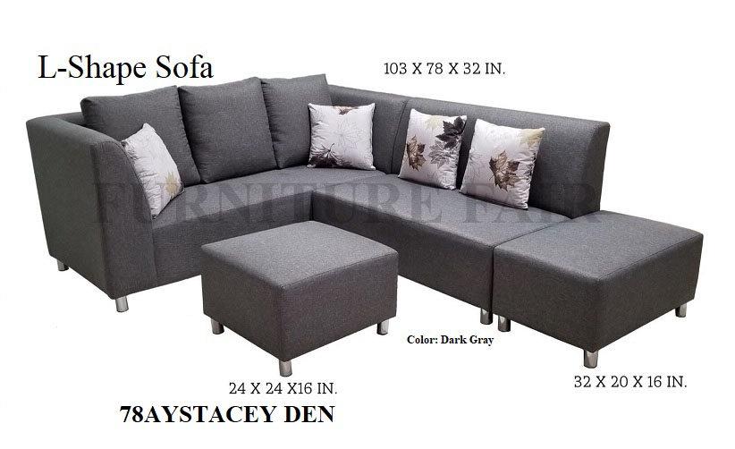L-Shape Sofa 78AYSTACEY DEN