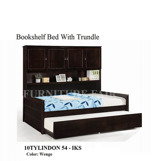 Bookshelf Bed With Trundle 10TYLINDON54-IKS